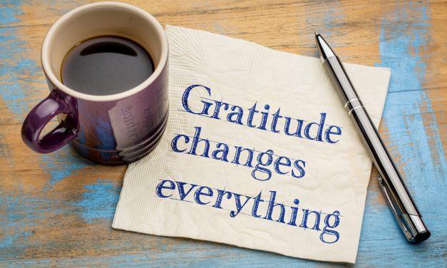 Det er vigtigt at være taknemmelig