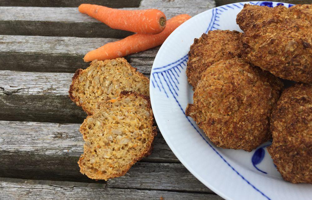 Glutenfri gulerodsboller – til en travl dag