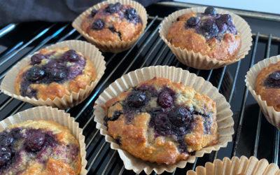 Blåbær-lemon muffins (Low carb)